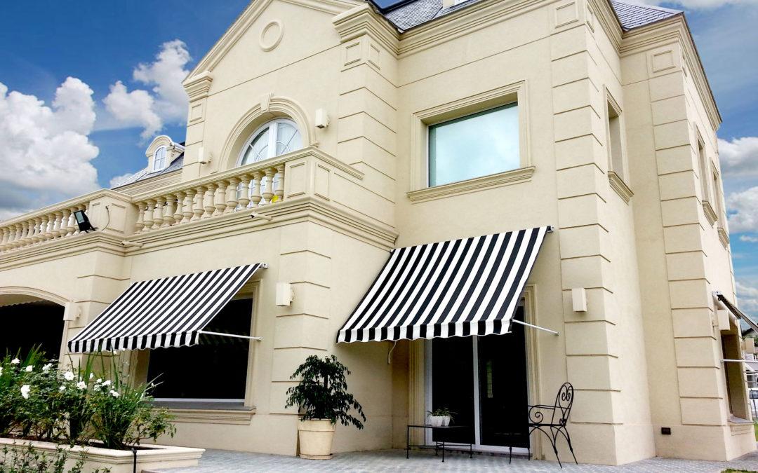 El toldo es parte importante del diseño de una casa